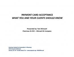 payment card acceptance what you and your clients should know