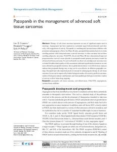Pazopanib in the management of advanced soft tissue sarcomas