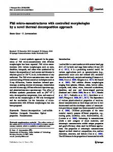 PbS micro-nanostructures with controlled