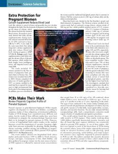 PCBs Make Their Mark Extra Protection for Pregnant Women