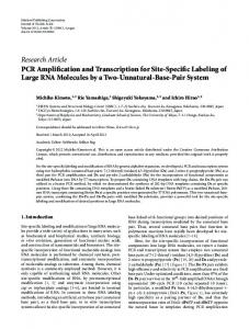 PCR Amplification and Transcription for Site-Specific Labeling of