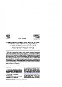 PCR amplification of microalgal DNA for sequencing and ... - CiteSeerX