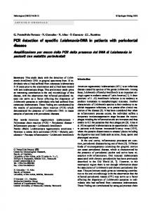 PCR detection of specific Leishmania-DNA in patients ... - Siapec - IAP