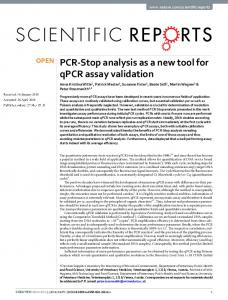 PCR-Stop analysis as a new tool for qPCR assay