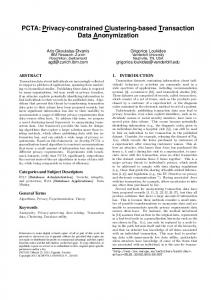 PCTA: Privacy-constrained Clustering-based Transaction Data ...