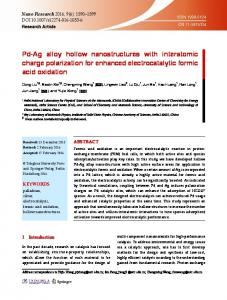 Pd-Ag alloy hollow nanostructures with interatomic charge polarization ...
