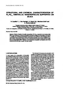 Pd BIMETALLIC NANOPARTICLES SUPPORTED ON SILICA