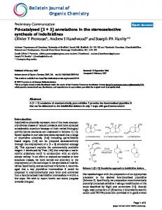 Pd-catalysed [3+ 3] annelations in the stereoselective synthesis of