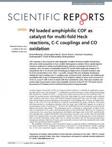 Pd loaded amphiphilic COF as catalyst for multi