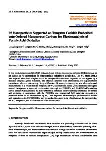 Pd Nanoparticles Supported on Tungsten Carbide Embedded onto