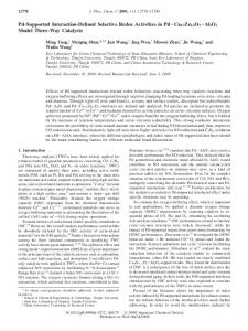 Pd-Supported Interaction-Defined Selective Redox Activities in Pd ...