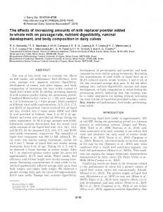 PDF (1 MB) - Journal of Dairy Science