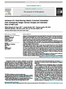 PDF (1 MB) - The Journal of Arthroplasty