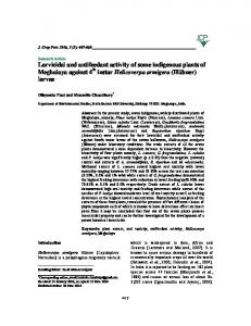 PDF (227 K) - Journal of Crop Protection
