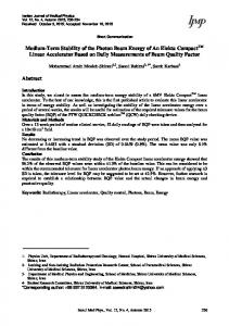 PDF (411 K) - Iranian Journal of Medical Physics