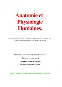[PDF] Anatomie et Physiologie Humaines.