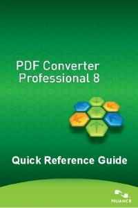 PDF Converter Professional Quick Reference Guide