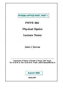 PDF file: PART 1 Optics Notes