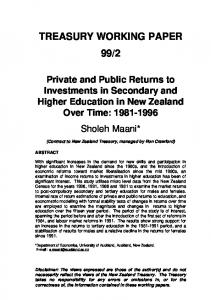PDF File - Private & Public Returns to Investments in ... - OECD.org