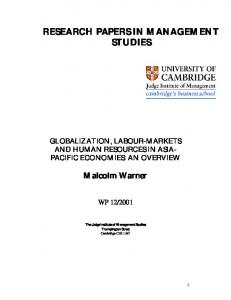 PDF - Globalization, Labour-Markets and Human ... - CiteSeerX