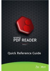 PDF Reader 7 Quick Reference Guide