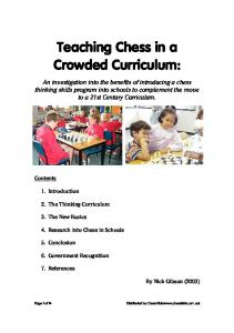 (PDF) Teaching Chess in a Crowded Curriculum - Chess Kids