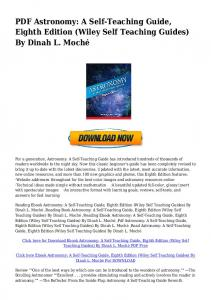 (PDF]DOWNLOAD Astronomy: A Self-Teaching Guide