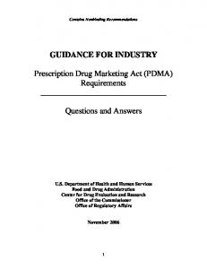 PDMA DRAFT Q & A DOCUMENT