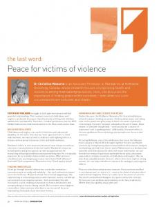 Peace for victims of violence - International Network of Child and ...