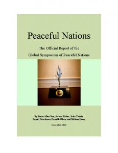 Peaceful Nations - Alliance for Peacebuilding