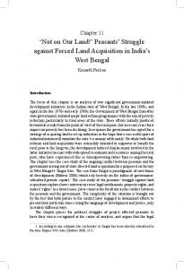 peasants' struggle against Forced land acquisition in india's west bengal