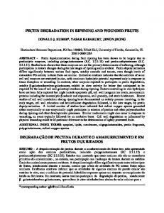 pectin degradation in ripening and wounded fruits - UC Cooperative ...