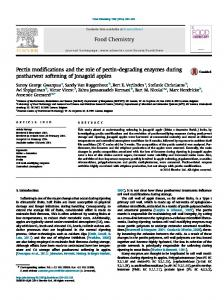 Pectin modifications and the role of pectin-degrading