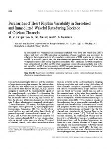 Peculiarities of Heart Rhythm Variability in Narcotized ... - Springer Link