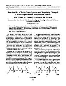 Peculiarities of Solid-Phase Synthesis of Negatively ... - Springer Link