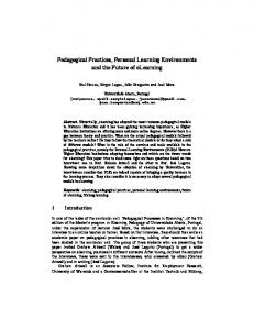 Pedagogical Practices, Personal Learning Environments and the ...