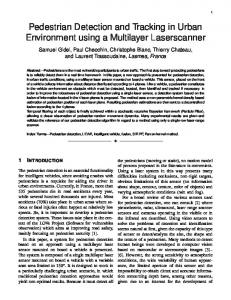Pedestrian Detection and Tracking in Urban ... - Semantic Scholar