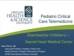 Pediatric Critical Care Telemedicine