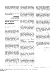 Pediatric Practice: Infectious Diseases - Clinical Infectious Diseases