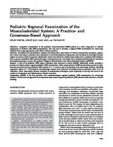 Pediatric regional examination of the ... - Wiley Online Library
