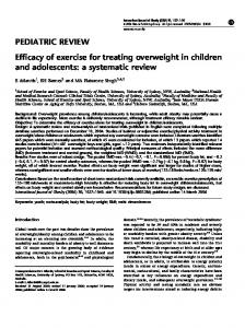 PEDIATRIC REVIEW Efficacy of exercise for treating ... - Nature
