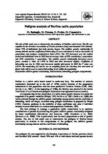 Pedigree analysis of Burlina cattle population