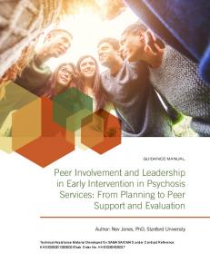 Peer Involvement and Leadership in Early Intervention in Psychosis ...