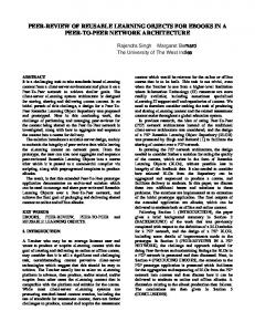 peer-review of reusable learning objects for ebooks in a peer-to-peer ...