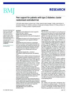 Peer support for patients with type 2 diabetes: cluster randomised ...