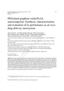 PEGylated graphene oxide/Fe3O4 nanocomposite