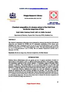 Pelagia Research Library Chemical composition of n ... - iMedPub