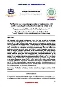 Pelagia Research Library Purification and comparison ... - iMedpub