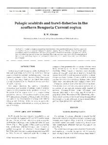 Pelagic seabirds and trawl-fisheries in the southern ... - Inter Research