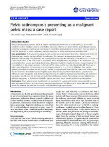 Pelvic actinomycosis presenting as a malignant ... - BioMedSearch
